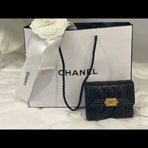 Chanel small boy wallet 💯 authentic